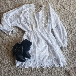 Charlotte russe  Crocheted lace dress size large